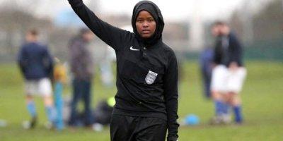 Britaniyanın ilk müsəlman qadın futbol hakimi (FOTOLAR)