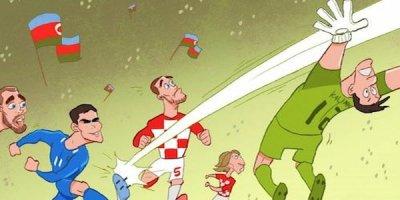 Məşhur karikaturaçı millimizin qolunu çəkdi: