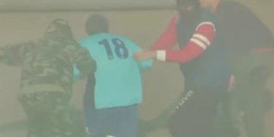 Futbolçu oyun zamanı stadiondan helitopkerlə qaçırıldı - FOTO/VİDEO
