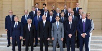 UEFA və PSJ  başqanı Azərbaycan prezidentinin qəbulunda - FOTO