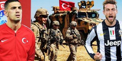 Türk futbolçu terroru dəstəkləyən həmkarına dərs verdi - FOTO