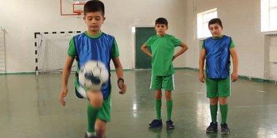 Tovuzda uşaq futboluna xidmət edən layihə - VİDEO