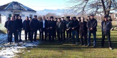 Tanınmış jurnalist İlkin Xəlilov seçicilərlə görüşlərə start verdi - FOTOLAR