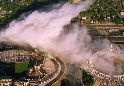 71 minlik stadionu partlatdılar - VİDEO