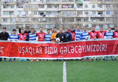 """""""Bakı Futbol Liqası"""" xeyriyyə aksiyası keçirdi - FOTOLAR"""
