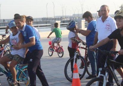 Autizmlilər arasında velosiped yarışı keçirildi - FOTOLAR