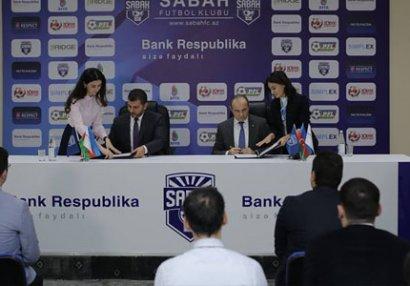 """""""Sabah"""" Bank Respublika ilə əməkdaşlığa başladı - FOTOLAR"""