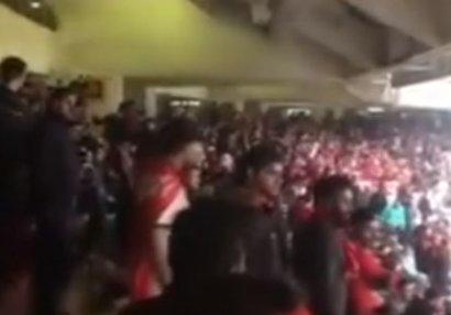 Futbolda görülməmiş anşlaq: azərbaycanlılar tribunanı 2 saat əvvəldən doldurdu (VİDEO)