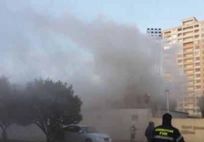 Futbol məktəbində baş verən yanğın söndürüldü - YENİLƏNİB