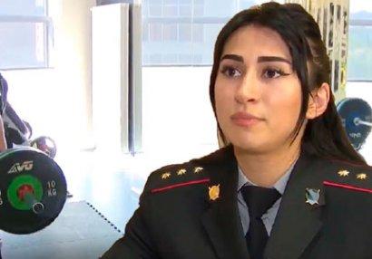 Avropa çempionu olan qadın polisimiz - VİDEO