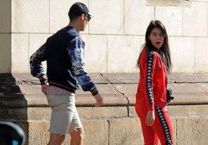 Ronaldo və sevgilisi elə yerdə yaxalandı ki... - FOTOLAR