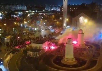 """Fransada """"Qalatasaray"""" azarkeşlərinə hücum - VİDEO"""
