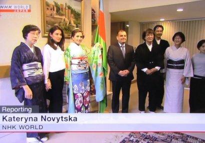 """NHK World telekanalı """"Tokio-2020"""" üçün hazırlanmış Azərbaycan kimonosu barədə süjet yayımlayıb"""