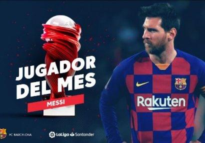 Ayın ən yaxşı oyunçusu - Messi
