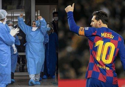 Messi həkimlərə təşəkkür etdi: