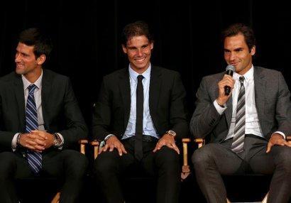 Cokoviç, Nadal və Federerdən örnək addım