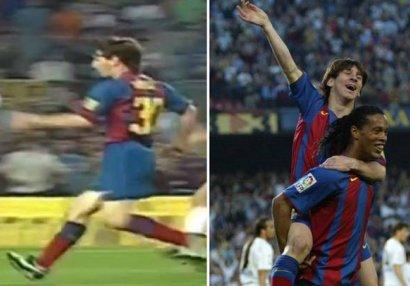 Futbol tarixini dəyişən əvəzetmə: Düz 15 il əvvəl Messi ilk qolunu vurmuşdu - VİDEO