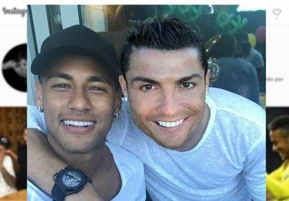 Ronaldu və Neymar qəbirqazan obrazında - FOTO