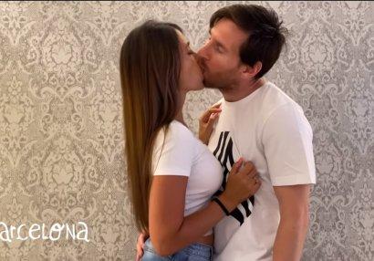 Messi puerto-rikolu reperin klipi üçün Antonella ilə öpüşdü - VİDEO