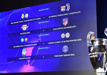 Состоялась жеребьевка 1/4 и 1/2 финалов Лиги чемпионов