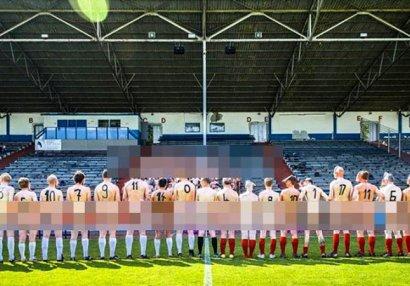 Futbolçular meydana çılpaq çıxdı - ŞOK SƏBƏB