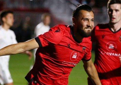 Азербайджанский футболист забил 7 гол в США - ВИДЕО