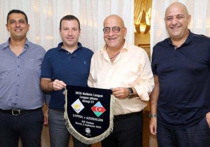 Elxan Məmmədov Kipr Futbol Assosiasiyasının prezidenti ilə görüşdü