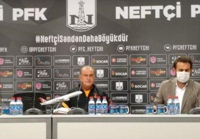 Фатих Терим провел пресс-конференцию в Баку: