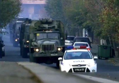 Rusiya sülhməramlılarından ibarət daha bir karvan Qarabağa gəldi - VİDEO