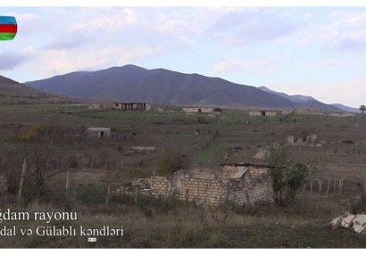 İşğaldan azad olunmuş Abdal və Gülablı kəndlərinin görüntüləri