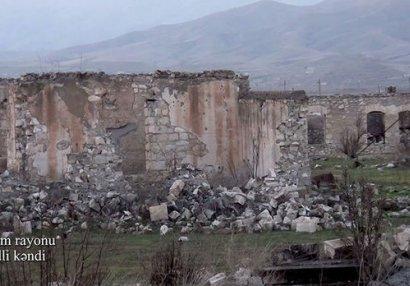 Ağdamın Seyidli kəndindən görüntülər - VİDEO