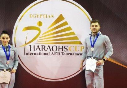 Gimnastlarımız Misirdə gümüş medal qazandı