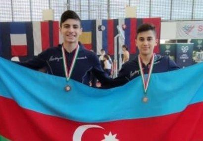 İki gimnastımız Macarıstanda medal qazandı - FOTOLAR
