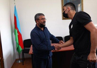 Sadıq Sadıqov millimizin üzvləri ilə görüşdü - FOTOLAR