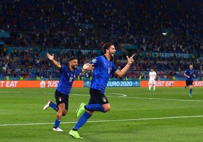 AVRO-2020: Türkiyə yenə uduzdu, İtaliya darmadağınla 1/8 finalda