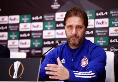 """""""Olimpiakos""""un baş məşqçisi: """"Neftçi"""" bizə çətin anlar yaşadacaq, bilirik"""""""