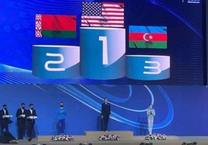 Gimnastlarımız növbəti medallarını qazanıb