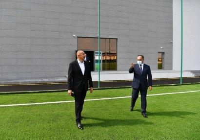 Prezident Goranboy Olimpiya İdman Kompleksinin açılışında iştirak edib - FOTOLAR